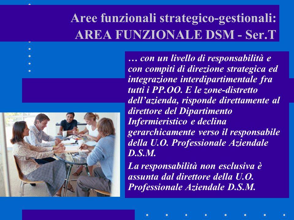 Aree funzionali strategico-gestionali: AREA FUNZIONALE DSM - Ser.T