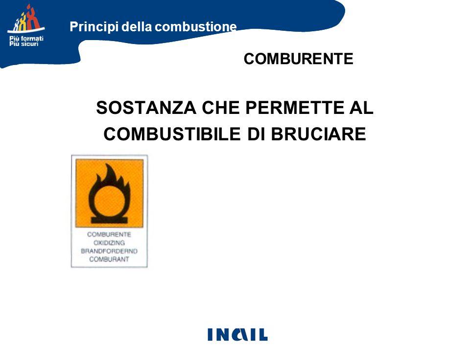 SOSTANZA CHE PERMETTE AL COMBUSTIBILE DI BRUCIARE