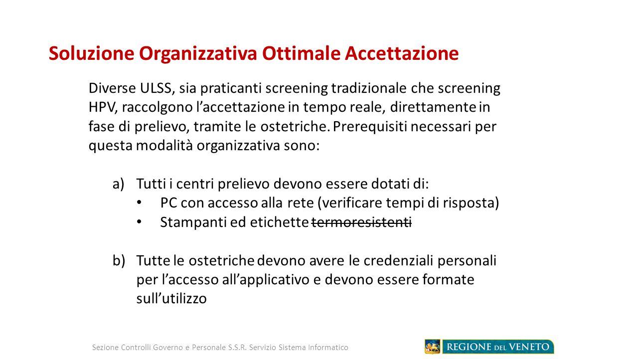 Soluzione Organizzativa Ottimale Accettazione