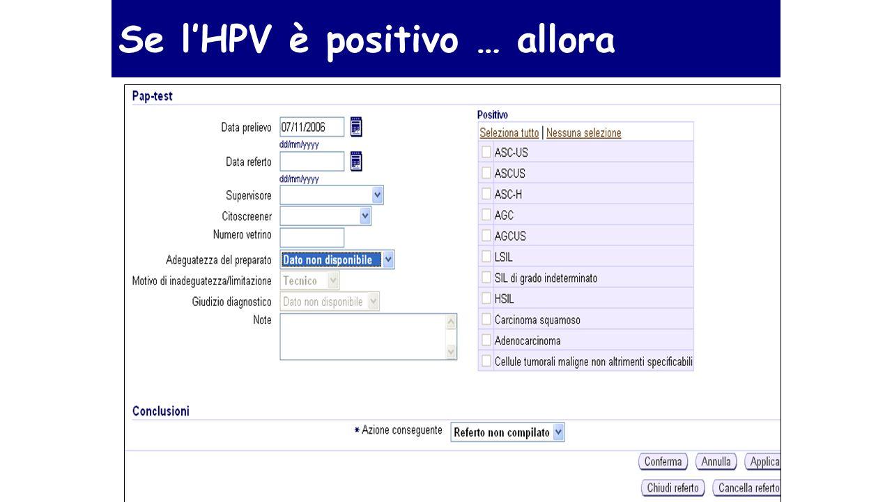 Se l'HPV è positivo … allora