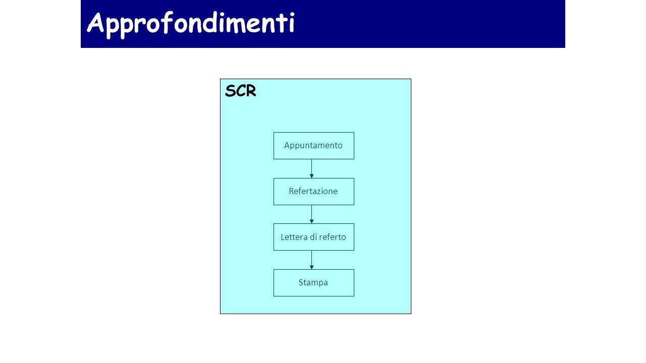 Approfondimenti SCR Appuntamento Refertazione Lettera di referto