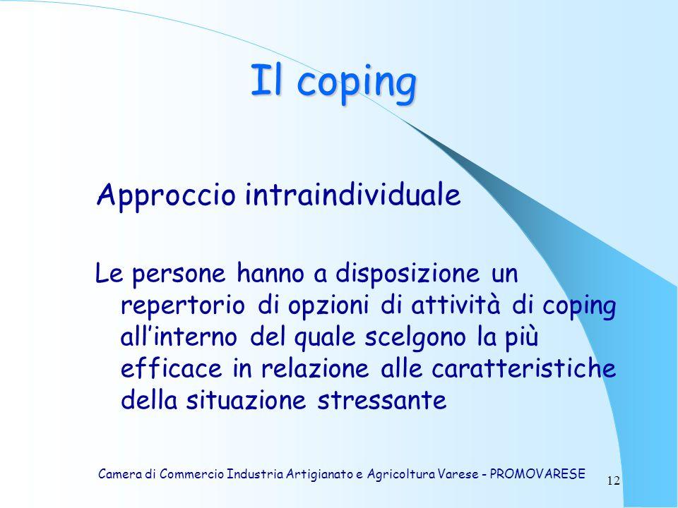 Il coping Approccio intraindividuale