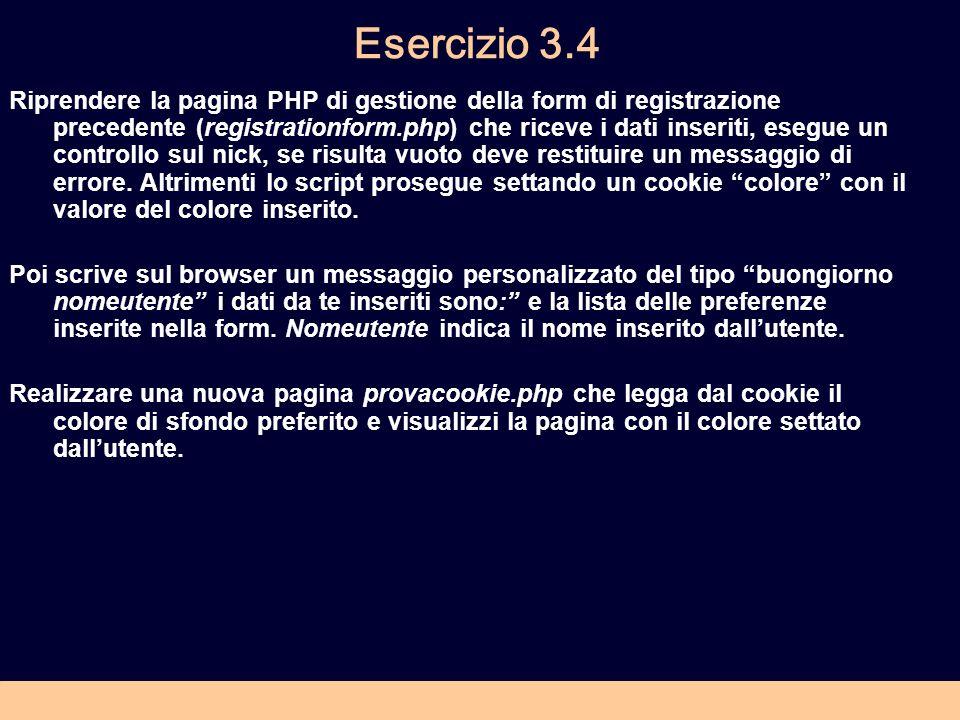 Esercizio 3.4