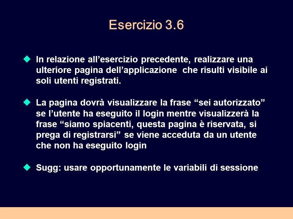 Esercizio 3.6