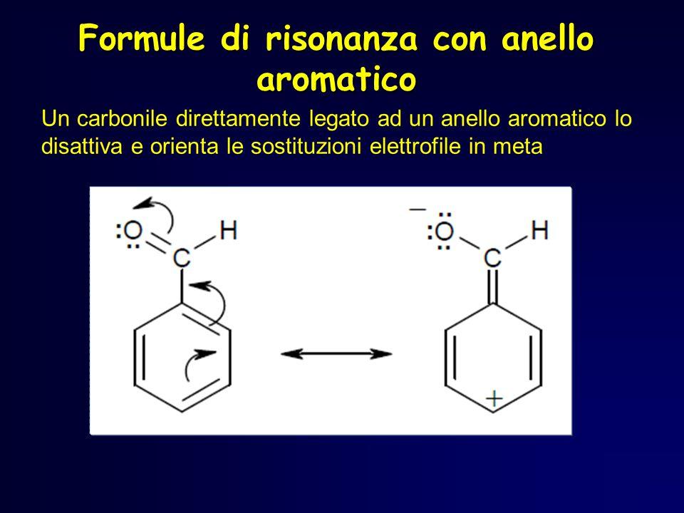 Formule di risonanza con anello aromatico