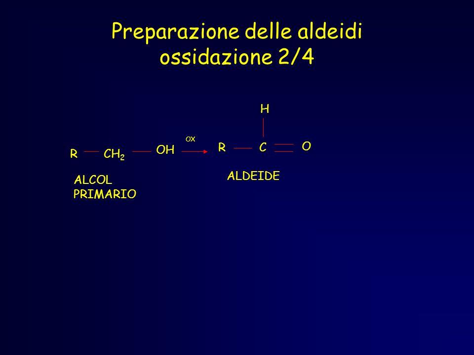 Preparazione delle aldeidi ossidazione 2/4
