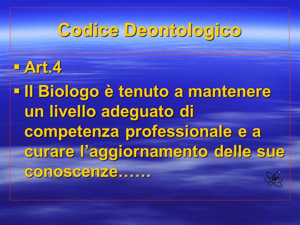 Codice Deontologico Art.4