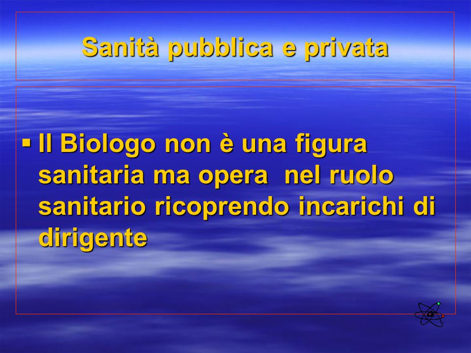 Sanità pubblica e privata