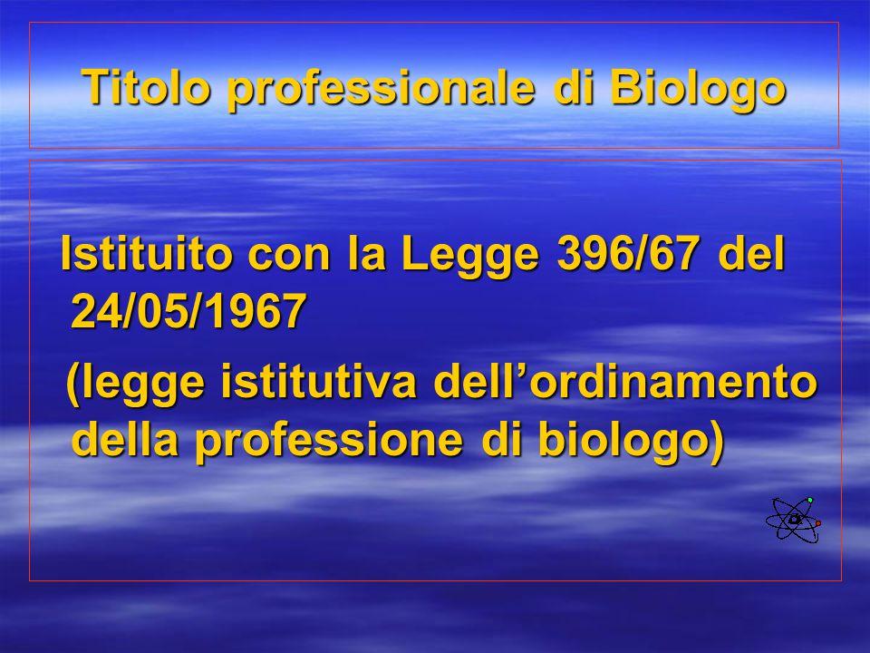 Titolo professionale di Biologo