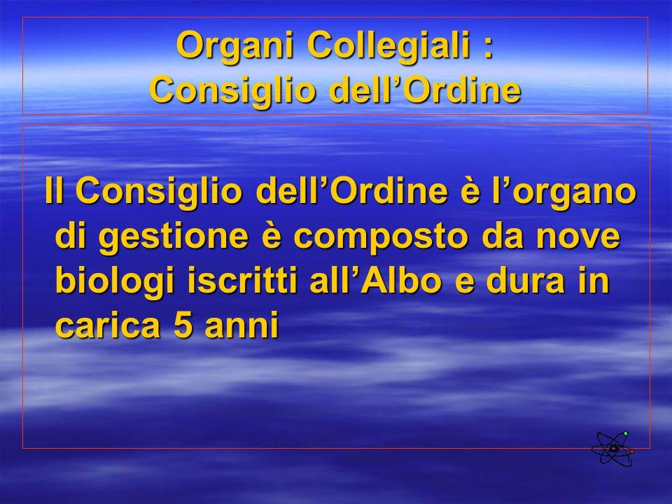 Organi Collegiali : Consiglio dell'Ordine