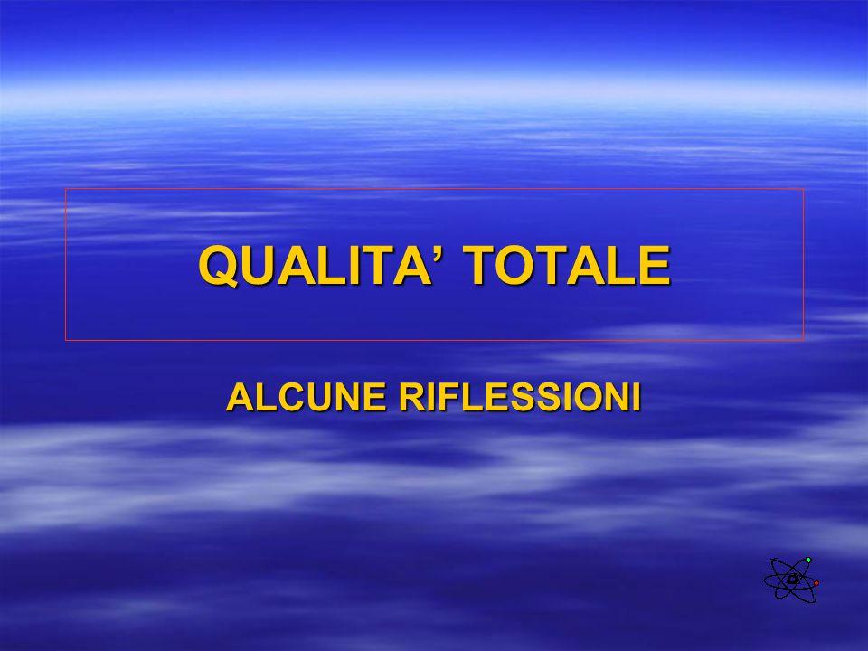 QUALITA' TOTALE ALCUNE RIFLESSIONI