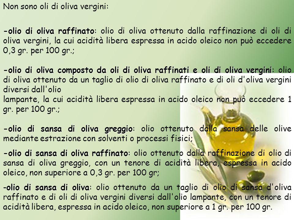 Non sono oli di oliva vergini: