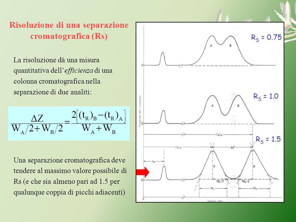 Risoluzione di una separazione cromatografica (Rs)