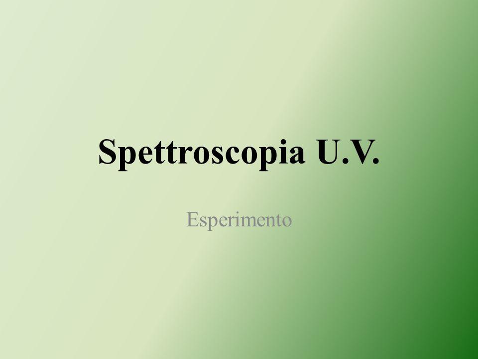 Spettroscopia U.V. Esperimento