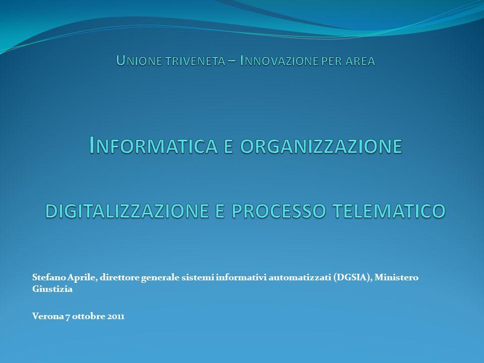 Unione triveneta – Innovazione per area Informatica e organizzazione digitalizzazione e processo telematico