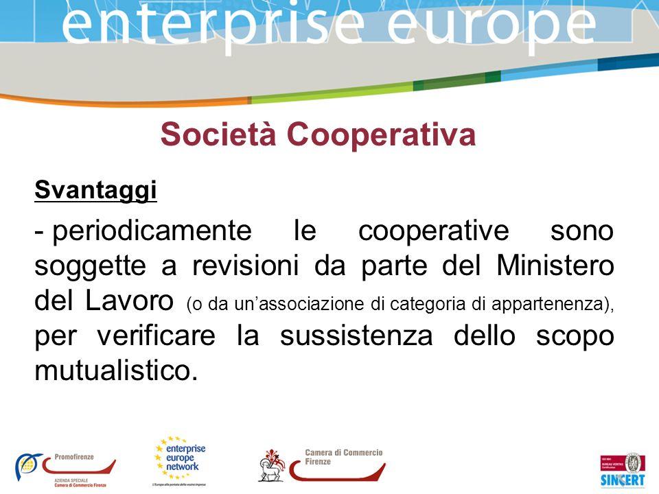 Società CooperativaSvantaggi.