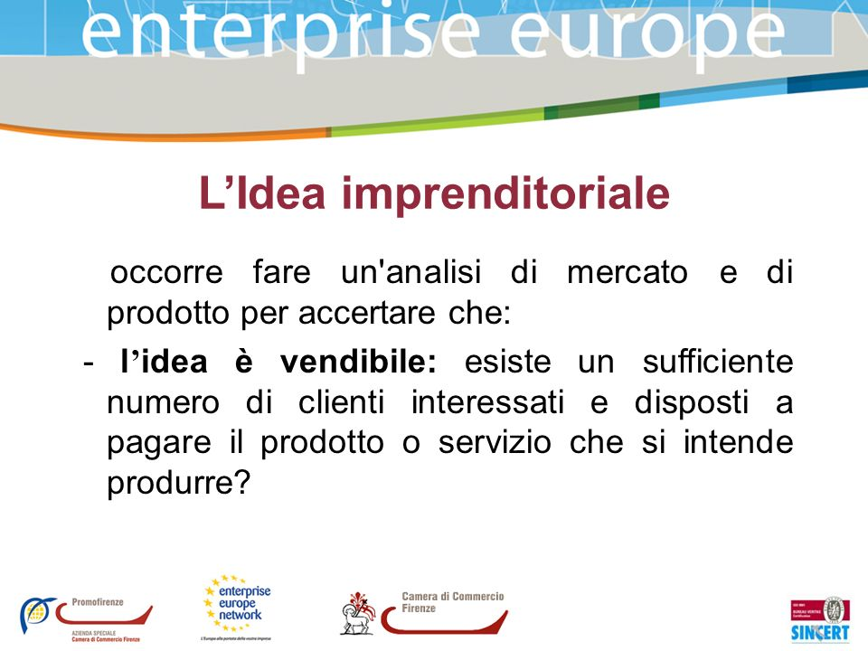 L'Idea imprenditoriale
