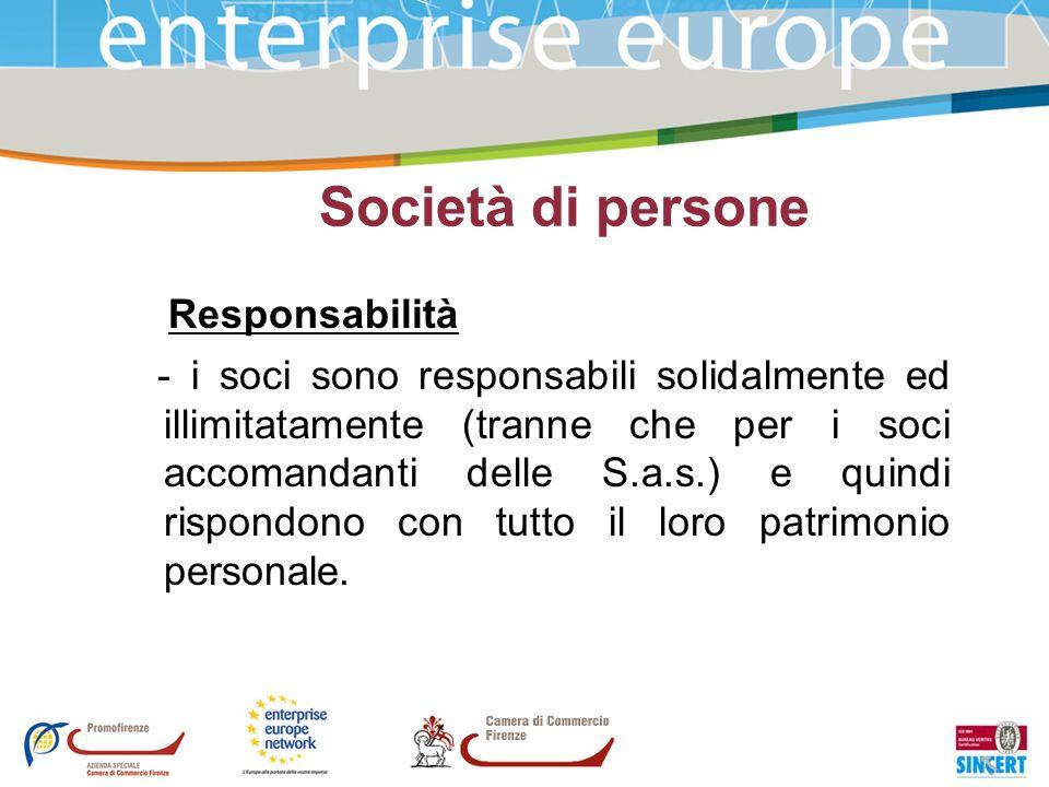 Società di persone Responsabilità