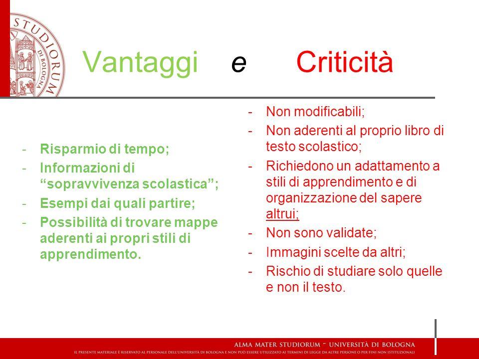 Vantaggi e Criticità Non modificabili;