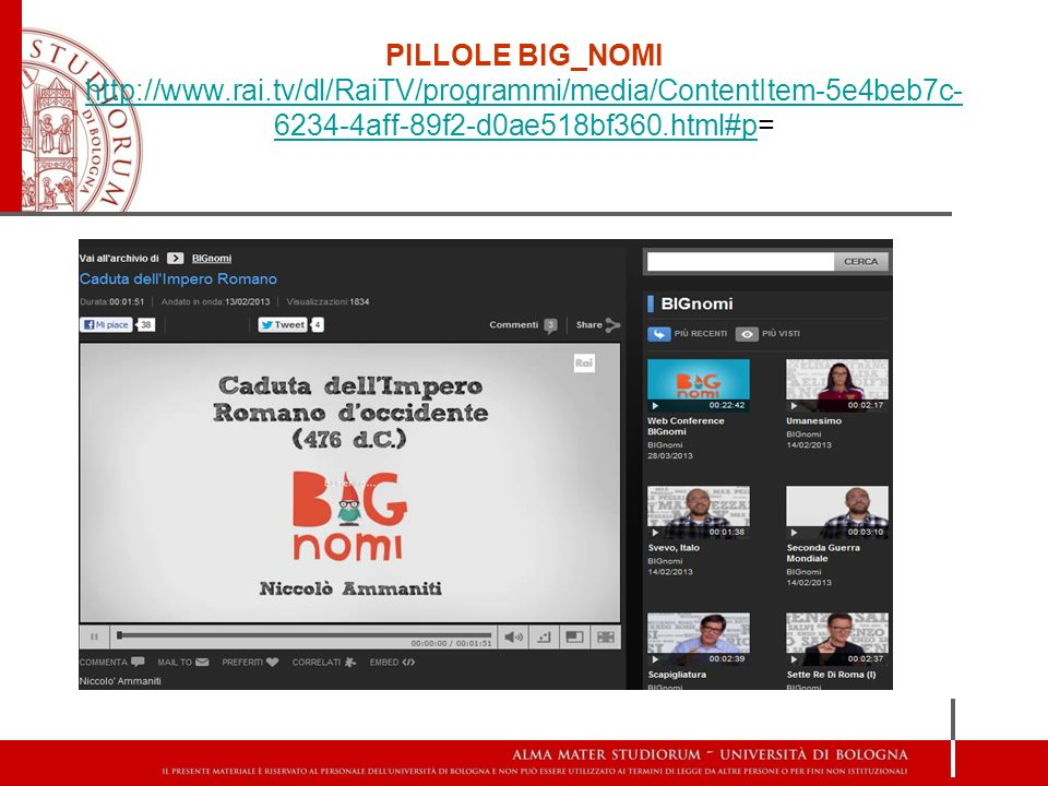 PILLOLE BIG_NOMI http://www. rai