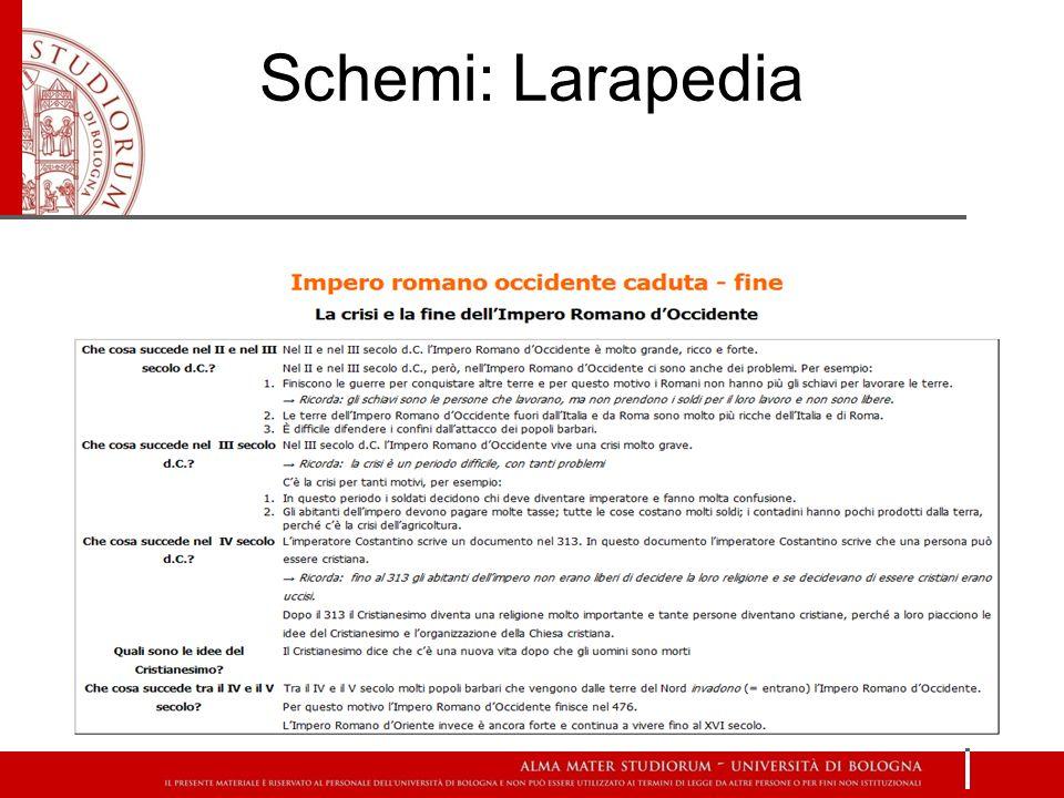 Schemi: Larapedia