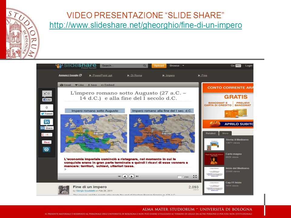 VIDEO PRESENTAZIONE SLIDE SHARE http://www. slideshare