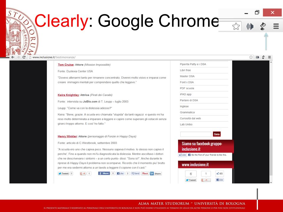 Clearly: Google Chrome