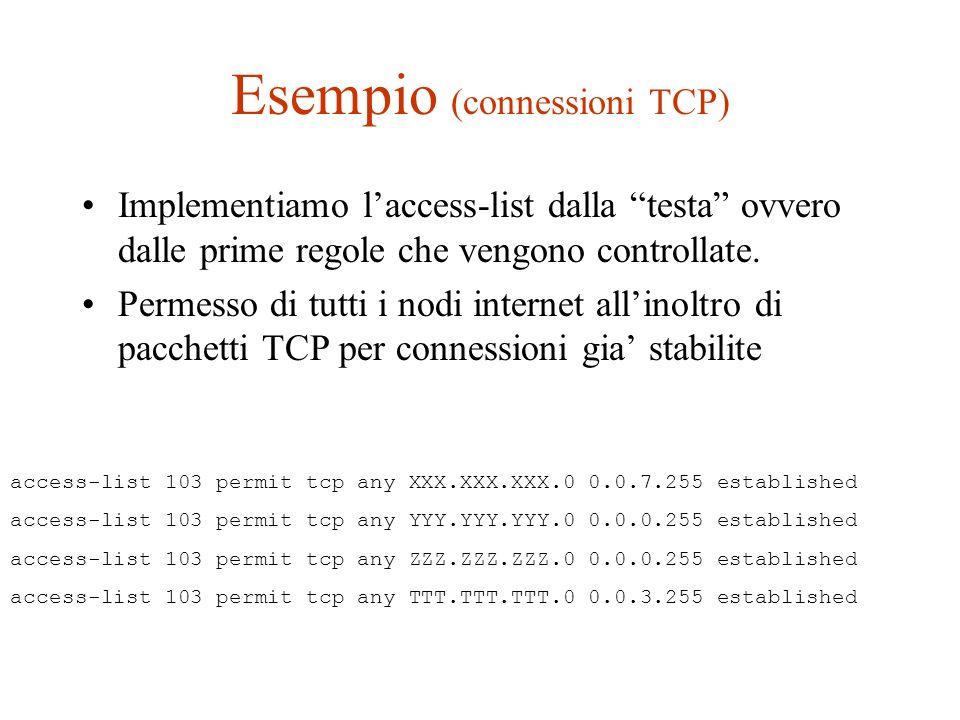 Esempio (connessioni TCP)