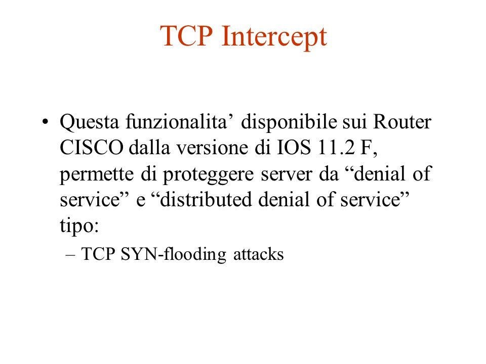 TCP Intercept