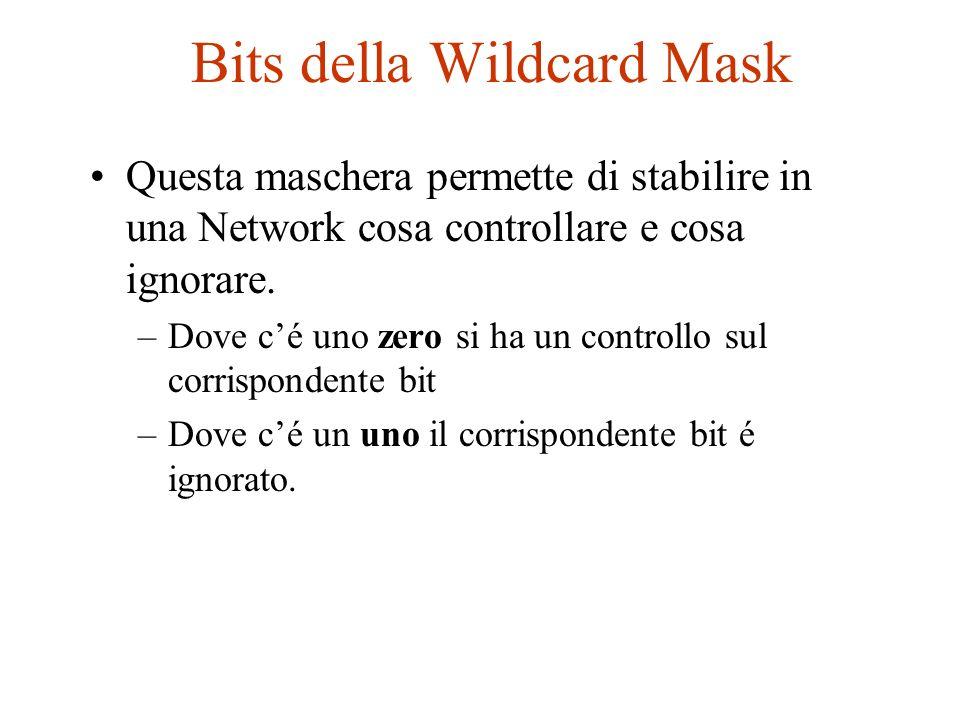 Bits della Wildcard Mask