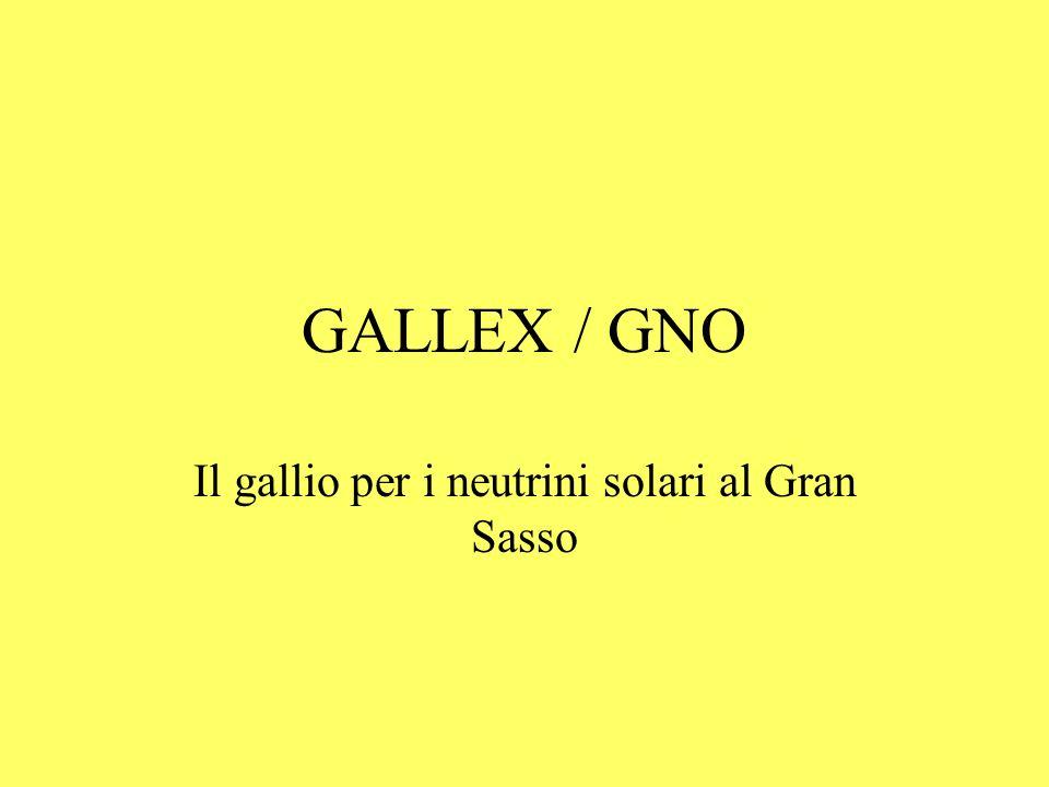 Il gallio per i neutrini solari al Gran Sasso