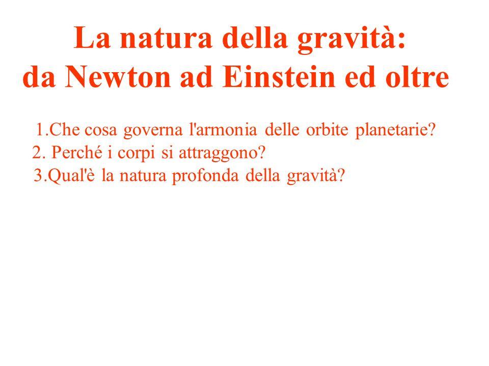 da Newton ad Einstein ed oltre