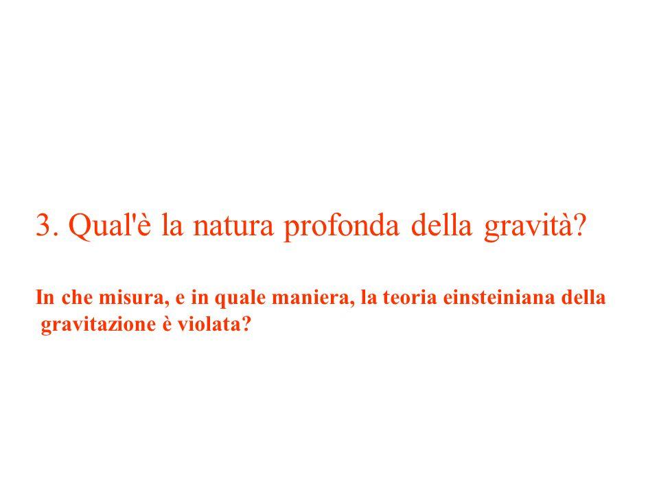 3. Qual è la natura profonda della gravità