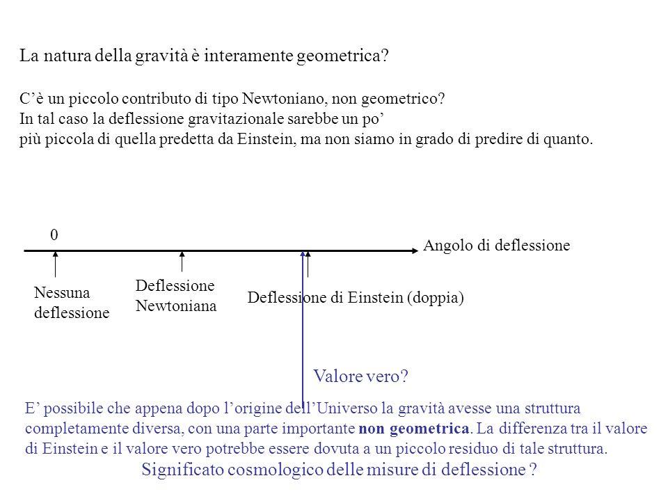 Significato cosmologico delle misure di deflessione