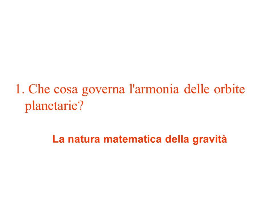La natura matematica della gravità