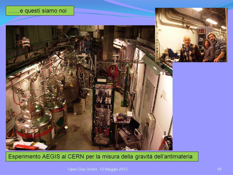 Esperimento AEGIS al CERN per la misura della gravità dell'antimateria