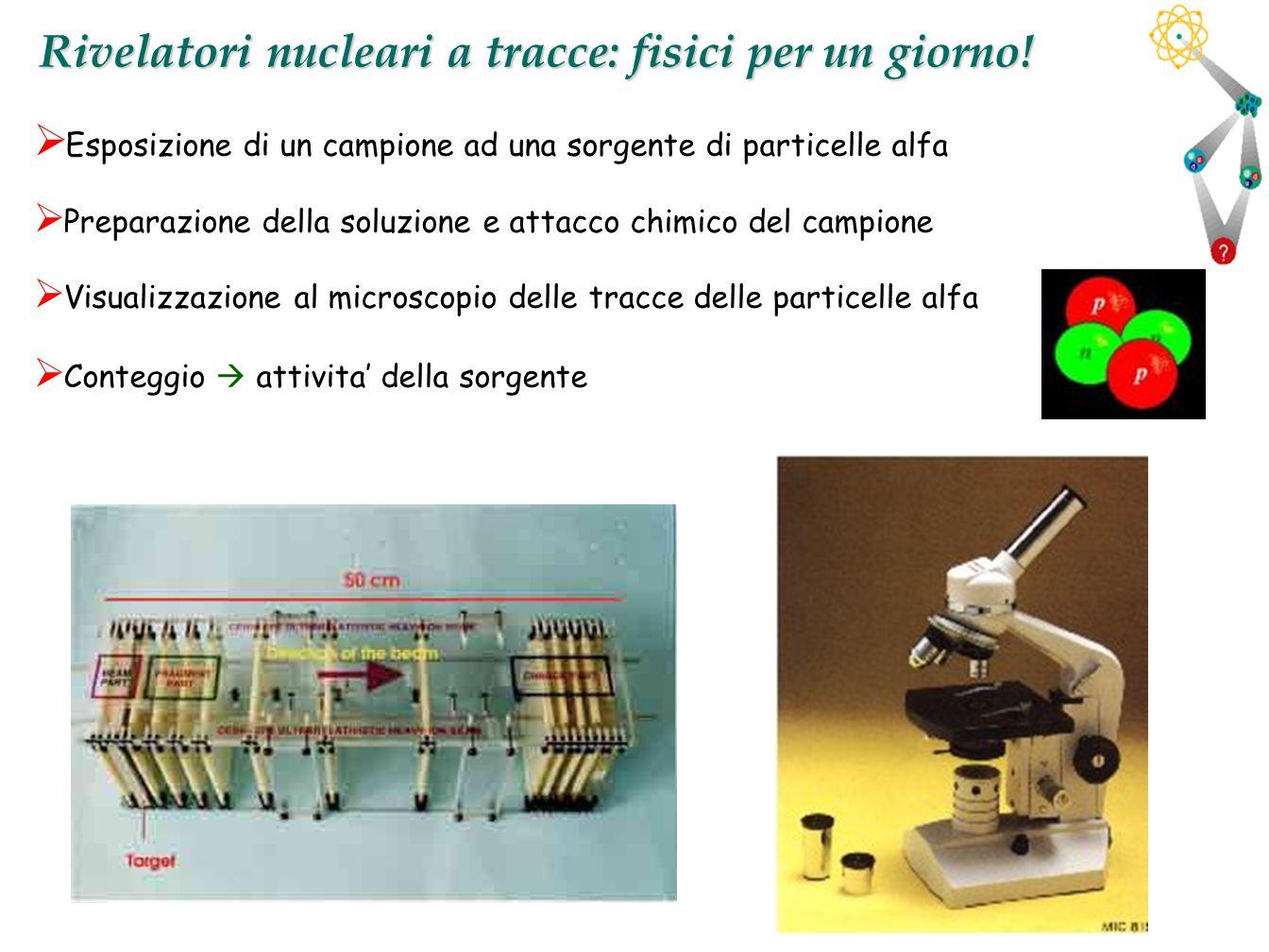 Rivelatori nucleari a tracce: fisici per un giorno!