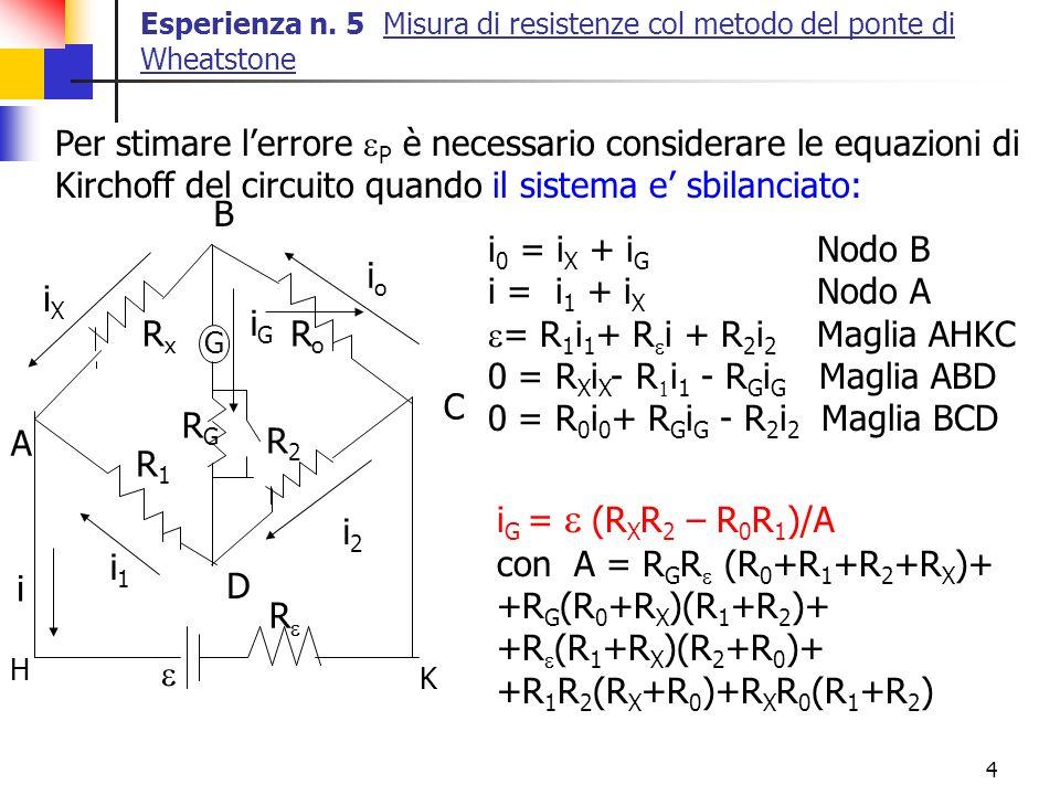 Per stimare l'errore eP è necessario considerare le equazioni di