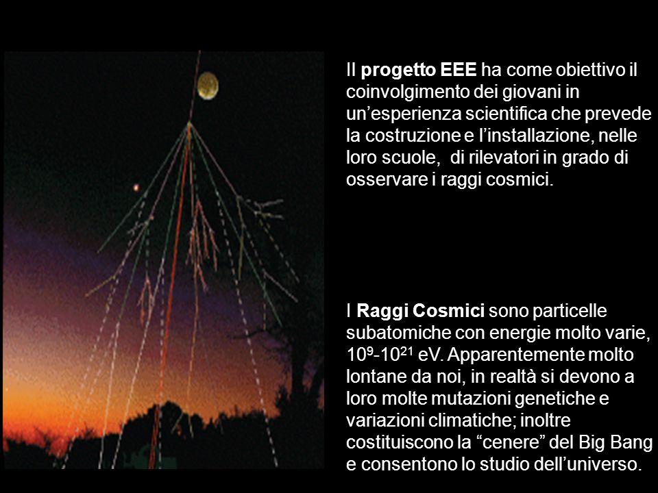 Il progetto EEE ha come obiettivo il coinvolgimento dei giovani in un'esperienza scientifica che prevede la costruzione e l'installazione, nelle loro scuole, di rilevatori in grado di osservare i raggi cosmici.