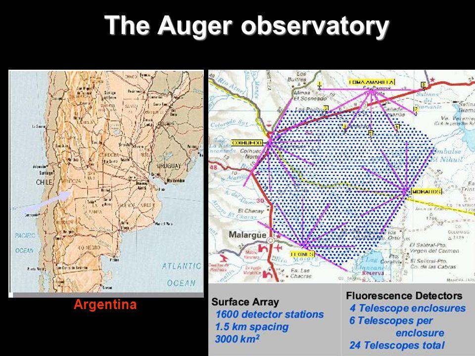 The Auger observatory Argentina