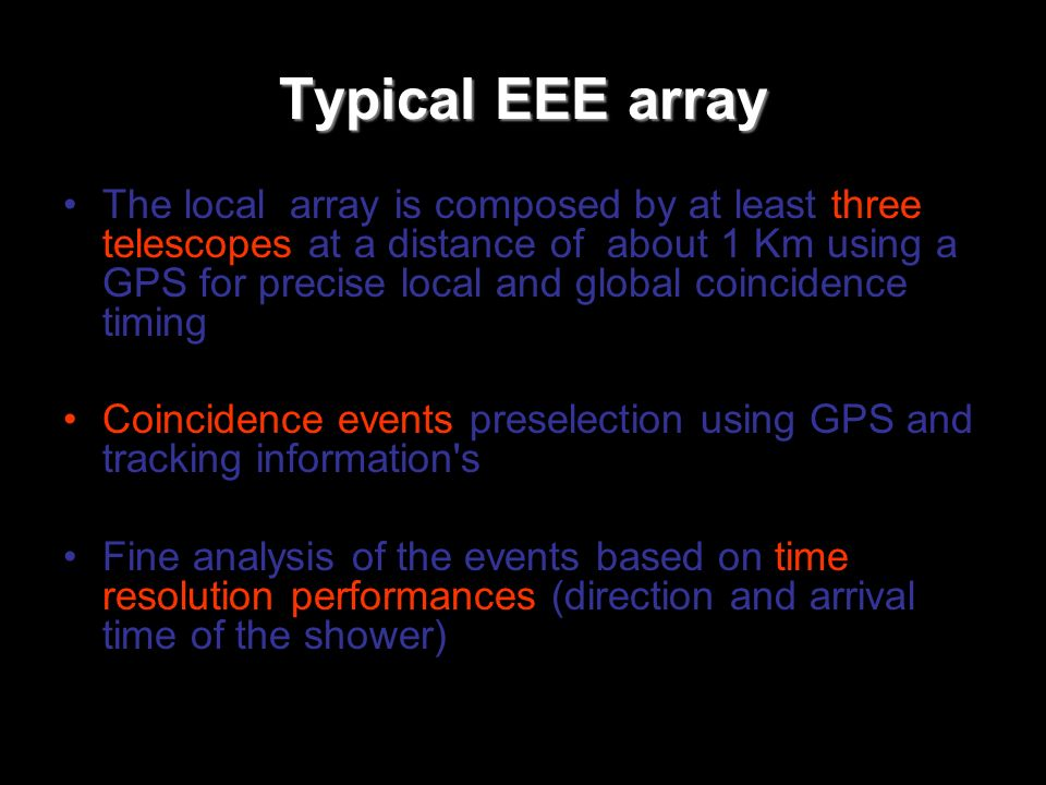 Typical EEE array