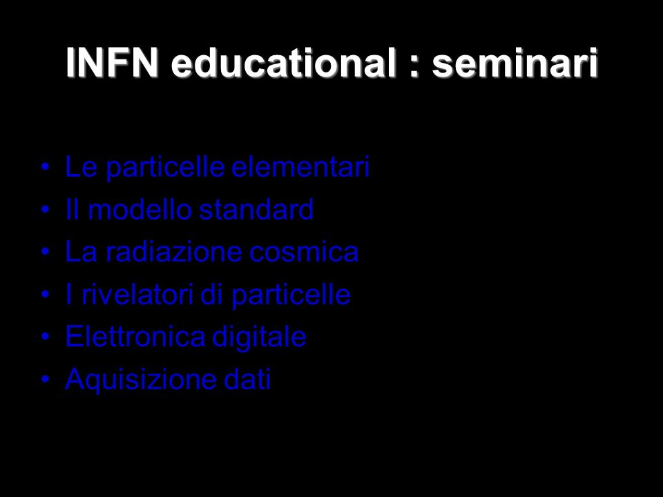 INFN educational : seminari