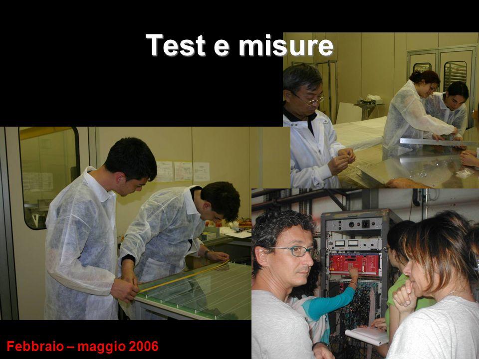 Test e misure Febbraio – maggio 2006