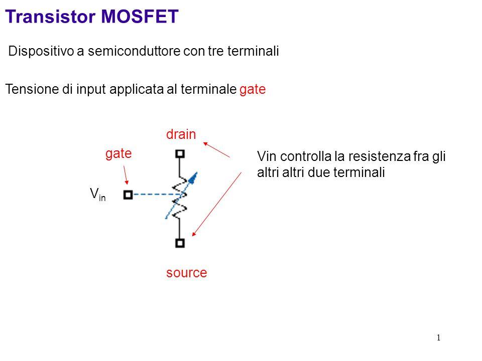 Transistor MOSFET Dispositivo a semiconduttore con tre terminali