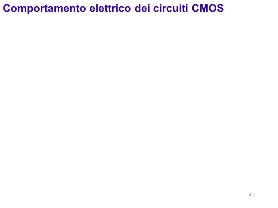 Comportamento elettrico dei circuiti CMOS