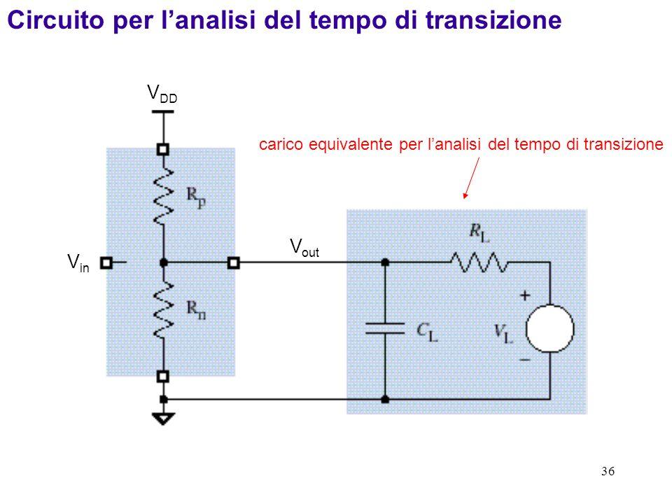 Circuito per l'analisi del tempo di transizione