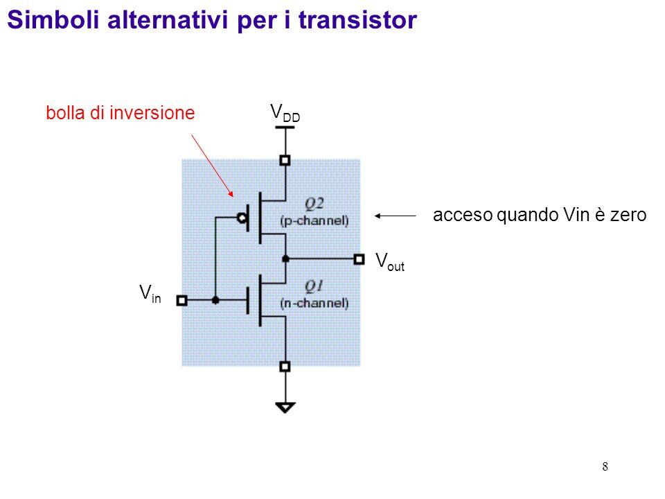 Simboli alternativi per i transistor