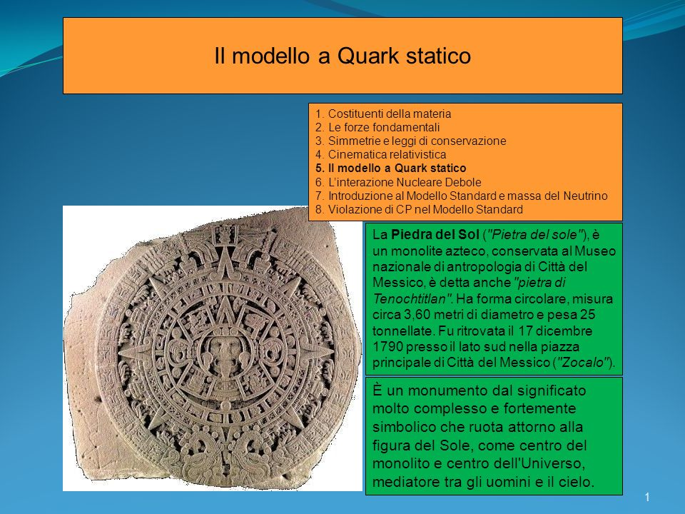 Il modello a Quark statico