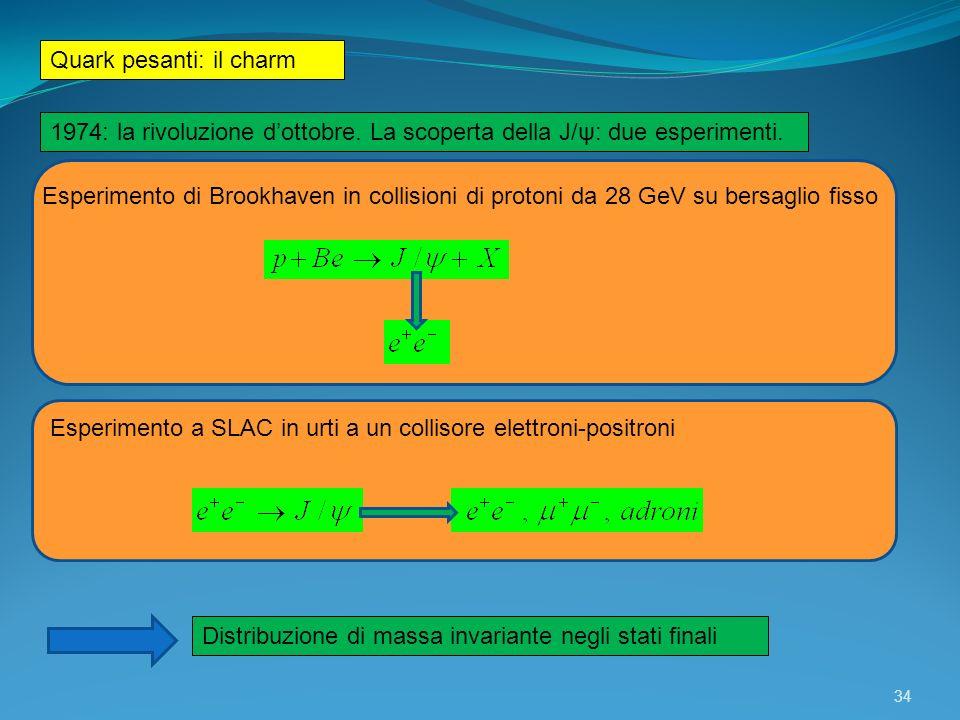Quark pesanti: il charm