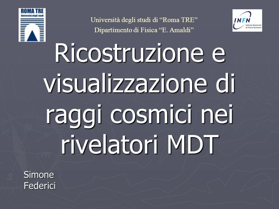 Ricostruzione e visualizzazione di raggi cosmici nei rivelatori MDT